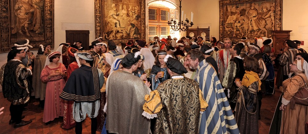 Renaissance costume party at the Chateau of Amboise
