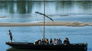 on board a traditional river boat on the Loire
