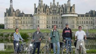 cycling near Chateau of Chambord