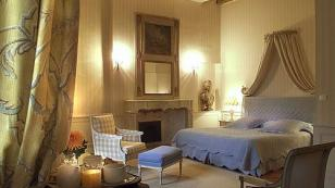 deluxe room in a chateau hotel in the Loire Valley