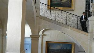 staircase of a private chateau
