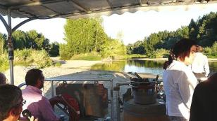on board a traditional boat on the Loire river