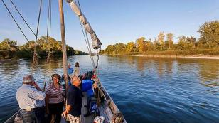 explore the Loire on a traditional river boat