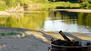 refreshing wine on the banks of the Loire river