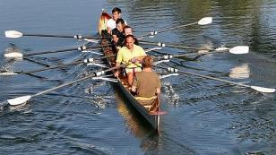 rowing on the loire river