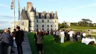 event in the courtyard of the Chateau of Amboise