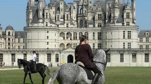 horse show in front of the Chateau of Chambord