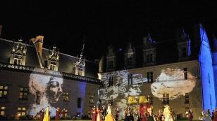 Animation Renaissance Amboise - sound and light show